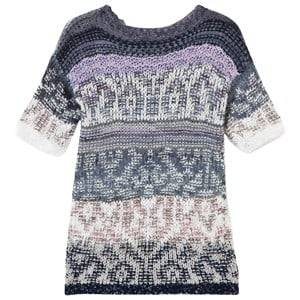 United Colors of Benetton Girls Childrens Clothes Dresses Navy Jacquard Knit Dress Navy