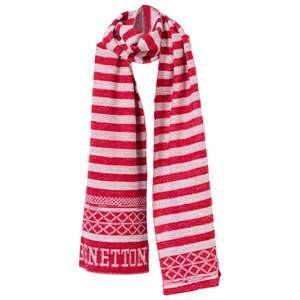 United Colors of Benetton Girls Childrens Clothes Scarves Red Scarf White/Red