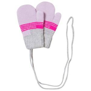 United Colors of Benetton Girls Childrens Clothes Gloves and mittens Navy Mittens/Gloves Grey/Pink