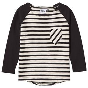 eBBe Kids Unisex Childrens Clothes Tops White Adam Rugby T-Shirt Offwhite/Black