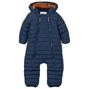 eBBe Kids Unisex Childrens Clothes Coveralls Blue Oregon Quilted Baby Snow Suit Blue Fog