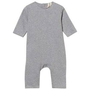 Gray Label Unisex Childrens Clothes All in ones Grey Baby Suit Grey Melange
