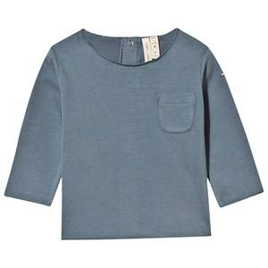 Gray Label Unisex Childrens Clothes Tops Blue Baby Tee Denim