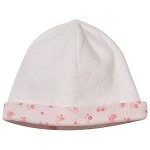 Carrément Beau Girls Childrens Clothes Headwear Cream Baby Hat Pull On Offwhite/Pink