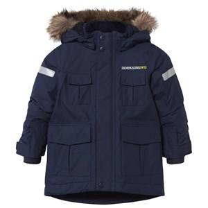Didriksons Unisex Childrens Clothes Coats and jackets Navy Nokosi Kid