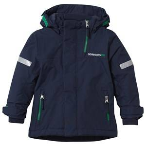 Didriksons Unisex Childrens Clothes Coats and jackets Navy Rovda Kid