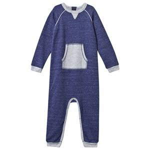 Mini A Ture Unisex Childrens Clothes All in ones Blue Joseph B Onesie Blue Wing Teal