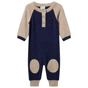 Mini A Ture Unisex Childrens Clothes All in ones Multi Sean B Baby One-Piece Grisaille Blue