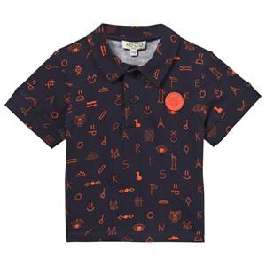 Kenzo Boys Childrens Clothes Tops Navy Angelo Polo Shirt Navy