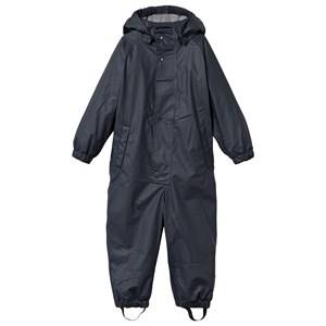 Mini A Ture Unisex Childrens Clothes Coveralls Blue Reinis Lined Rain Suit Ombre Blue