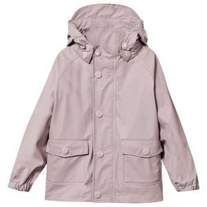 Mini A Ture Girls Childrens Clothes Coats and jackets Pink Julien Rain Jacket Violet Ice