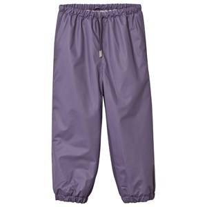 Mini A Ture Unisex Childrens Clothes Bottoms Purple Robin Lined Rain Pants Purple Heart
