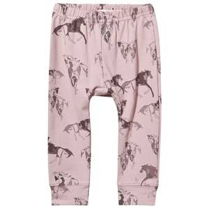MarMar Copenhagen Girls Childrens Clothes Bottoms Pink Liva Leggings Pinto Print