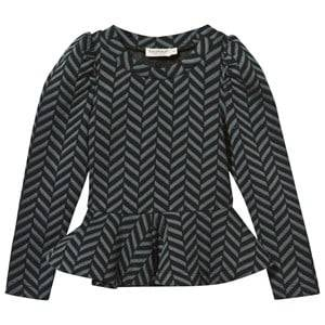 MarMar Copenhagen Girls Childrens Clothes Tops Black Tala Top Dark Slate