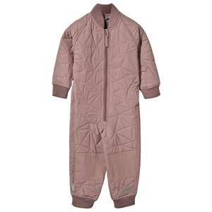 MarMar Copenhagen Unisex Childrens Clothes All in ones Pink Oz Coverall Thermo Twilight Mauve