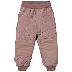 MarMar Copenhagen Unisex Childrens Clothes Bottoms Pink Odin Thermo Pants Twilight Mauve
