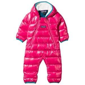 Patagonia Unisex Childrens Clothes Coveralls Pink Baby Hi-Loft Down Sweater Bunting Magic Pink