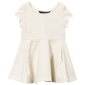Ralph Lauren Girls Childrens Clothes Dresses White Ponte Dress Herbal Milk