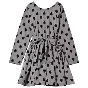 Kiss How To Kiss A Frog Girls Childrens Clothes Dresses Grey Adele Dress Dark Grey Heart
