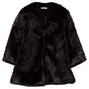 Kiss How To Kiss A Frog Girls Childrens Clothes Coats and jackets Black Muriel Coat Black