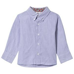 Kiss How To Kiss A Frog Boys Childrens Clothes Tops Blue Harry Baby Sky Stripe, Collar/Cuff Pink