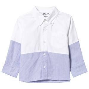 Kiss How To Kiss A Frog Boys Childrens Clothes Tops White Enzo Shirt Baby White / Sky Stripe
