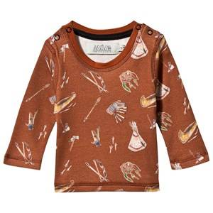 Anïve For The Minors Unisex Childrens Clothes Tops Brown Baby Tee Sioux