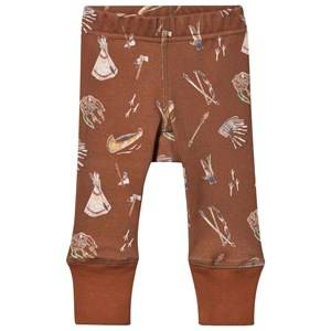 Anïve For The Minors Unisex Childrens Clothes Bottoms Brown Baby Leggings Sioux