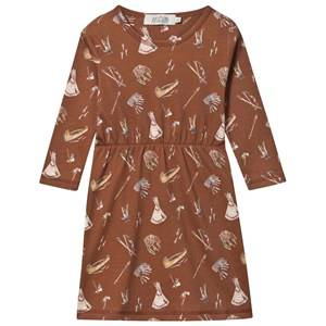 Anïve For The Minors Girls Childrens Clothes Dresses Brown Dress Sioux