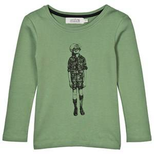 Anïve For The Minors Unisex Childrens Clothes Tops Green Tee Scout Forest Green