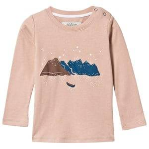 Anïve For The Minors Unisex Childrens Clothes Tops Pink Tee Mountain