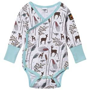 Modéerska Huset Unisex Childrens Clothes All in ones White Wrap Body Barley Field