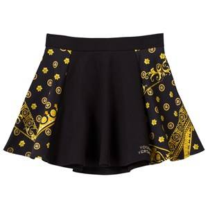 Young Versace Girls Childrens Clothes Skirts Black Medusa Skirt Black