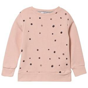 One We Like Unisex Childrens Clothes Jumpers and knitwear Pink Basic Sweater Dots Pink