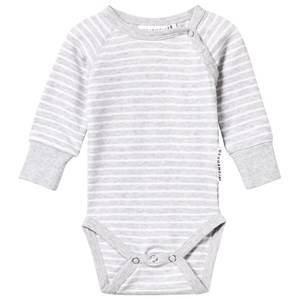 Geggamoja Unisex Childrens Clothes All in ones Grey Baby Body Classic Light Grey Mel/White