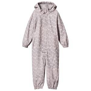 Mini A Ture Girls Coveralls Pink Reinis Violet Lined Rainsuit Ice Print