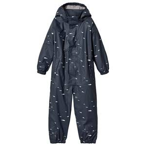 Mini A Ture Unisex Coveralls Blue The Reinis Lined Rain Suit M Ombre Blue Print