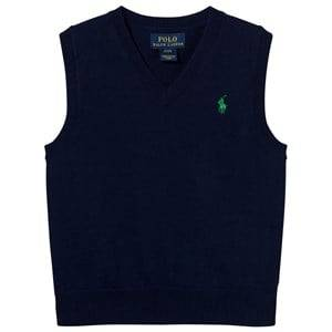 Ralph Lauren Boys Jumpers and knitwear Navy Cotton Sweater Vest Chateau Navy