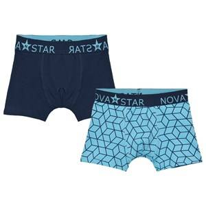 Nova Star Boys Underwear Blue Cube Boxer Briefs
