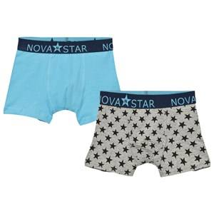 Nova Star Boys Underwear Grey Star Boxer Briefs