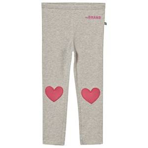 The BRAND Girls Private Label Bottoms Grey Heart Leggings Grey