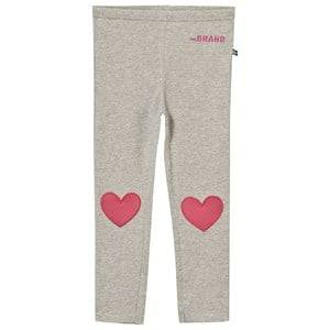 The BRAND Girls Bottoms Grey Heart Leggings Grey