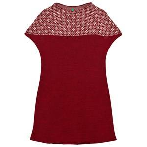 United Colors of Benetton Girls Dresses Red Knit Dress with Lurex Red