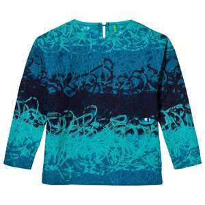 United Colors of Benetton Girls Jumpers and knitwear Blue Degradé Sweater Blue Multi