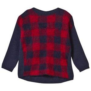 United Colors of Benetton Girls Jumpers and knitwear Navy Oversized Knit Sweater Navy/Red