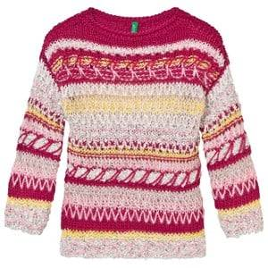 United Colors of Benetton Girls Jumpers and knitwear Multi Knit Sweater Multi