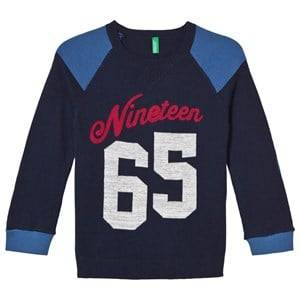 United Colors of Benetton Boys Jumpers and knitwear Navy Cotton Blend Sweater Navy