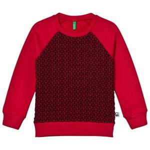 United Colors of Benetton Boys Jumpers and knitwear Red Raglan Sweater Red/Black