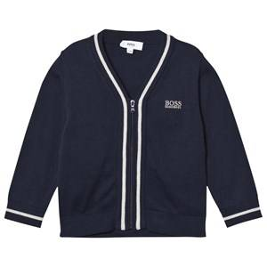 Boss Boys Jumpers and knitwear Navy Navy Zip Front Cotton Cardigan