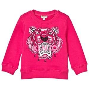 Kenzo Girls Jumpers and knitwear Pink Pink Embroidered Tiger Sweatshirt